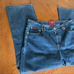 Chaps Delaney Straight Leg Jeans, Womens 14P